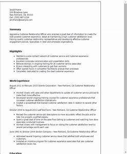 How Should My Resume Look Customer Relationship Officer Resume Template Best