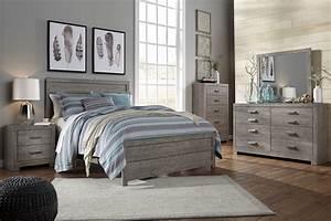 Culverbach, Gray, Vintage, Bedroom, Set