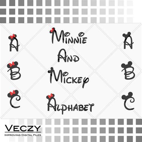 mickey  minnie mouse font walt disney font alphabet svg files disney font walt disney