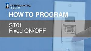 Intermatic St01 Fixed On  Off Programming