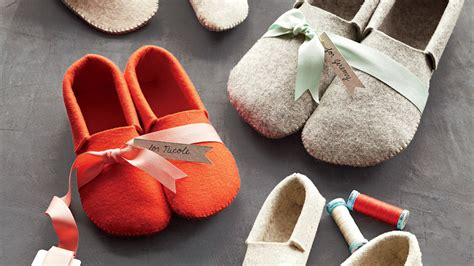 stephanies sewn felt slippers martha stewart
