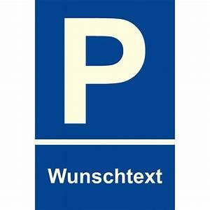 """Parkplatzschild """"Wunschtext"""""""