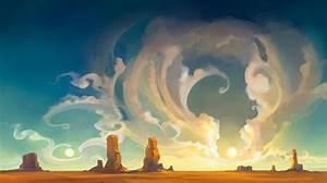 Cartoon Desert Wallpaper   Geek Pics   Pinterest   Cartoon ...