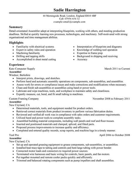 Warehouse Production Resume by 18 Amazing Production Resume Exles Livecareer