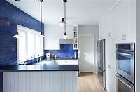 blue and white kitchen Blue And White Interiors: Living Rooms, Kitchens, Bedrooms And More