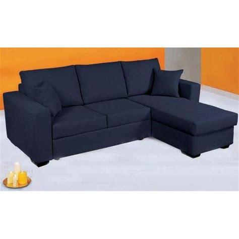 canapé d angle bleu canapé d 39 angle convertible en lit tissu bleu achat