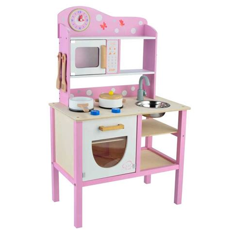 childrens wooden kitchen accessories butternut pink wooden play kitchen set with 5392