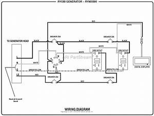 Homelite Ry905500 Inverter Generator Mfg  No  090930295 Parts Diagram For Wiring Diagram