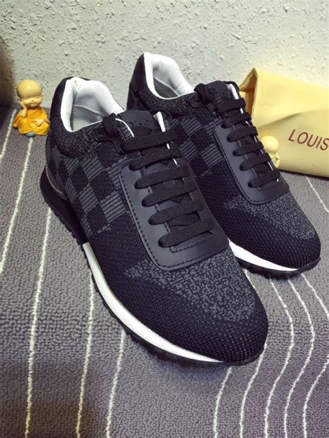 louis vuitton men black run  sneaker damier   ioffer designer replica
