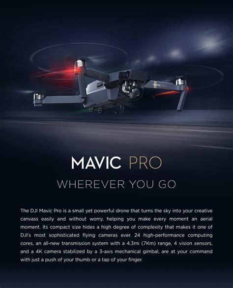 dji mavic pro combo foldable obstacle avoidance drone