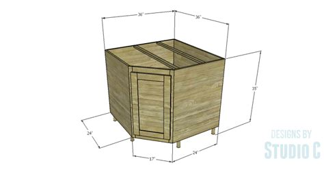 how to build a corner kitchen cabinet a corner base cabinet for a kitchen remodel 9287