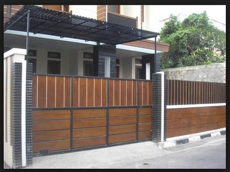 desain pagar rumah minimalis  diminati rumahku unik
