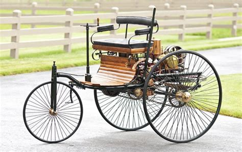 How it all began 1886: MUSCLE CAR COLLECTION : 1885 Benz Patent Motorwagen The First Car In The World