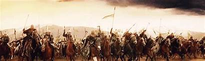 Charge Rohirrim Eorlingas Forth Cavalry Rohan Theoden