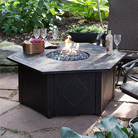 cheap uniflame 55 in decorative slate tile lp gas outdoor