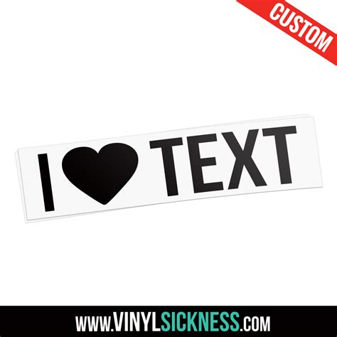 custom vinyl lettering stickers custom i text sticker decal
