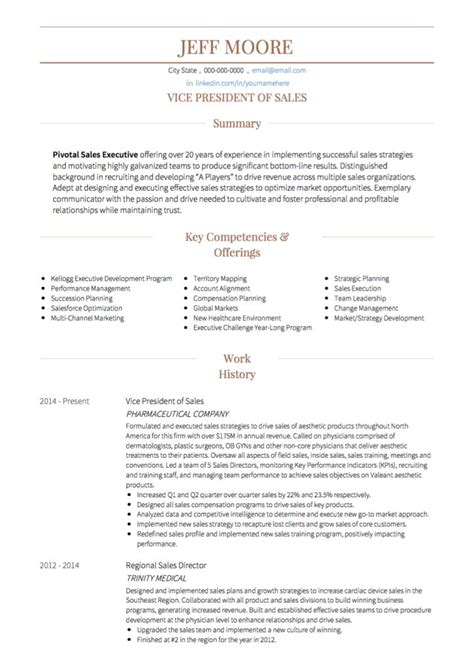 How To Write A Professional Cv Sles by Sales Cv Exles Templates Visualcv