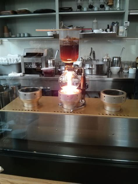 crazy cool coffee apparatus  blue bottle  san