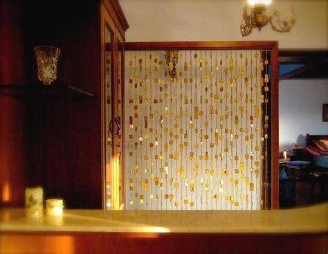 bead curtain as a room divider   Living Room   Pinterest