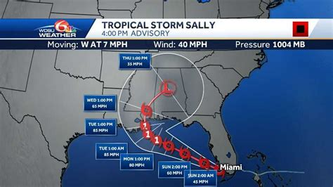 Heavy rain, storm surge concerns from Tropical Storm Sally ...