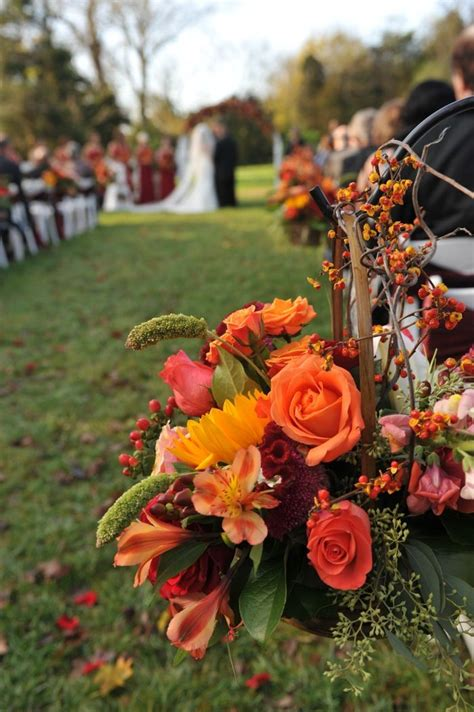 Octoberfest : Heather and Tommy Part 2 Wedding aisle