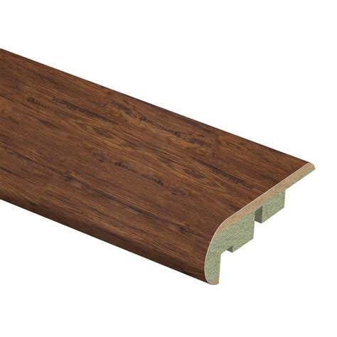pergo highland hickory stair nose zamma alameda hickory 3 4 in thick x 2 1 8 in wide x 94 in length laminate stair nose molding