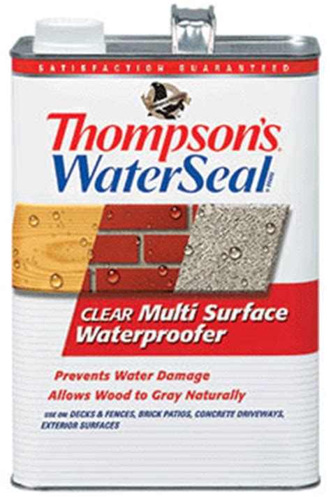 thompsons waterseal clear multi surface waterproofing product
