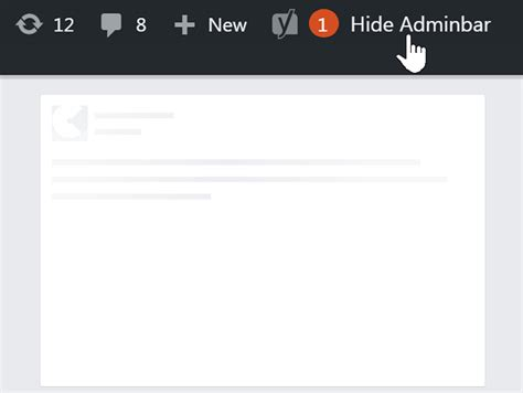 Jquery Plugin To Toggle (hide & Show) Wordpress Admin Bar