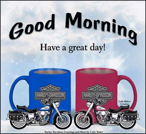 """Good morning peace, love,& coffee quotes. Pin by Lorri Talys on HD """"GOOD MORNING""""   Biker quotes, Harley davidson, Lady riders"""