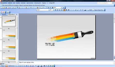 paint brush powerpoint template