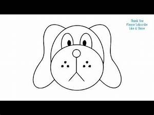 How to Draw a Dog Simple easy Drawing Puppy cartoon - YouTube