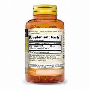 Peppermint Oil 50mg  U0026quot Enteric Coated U0026quot