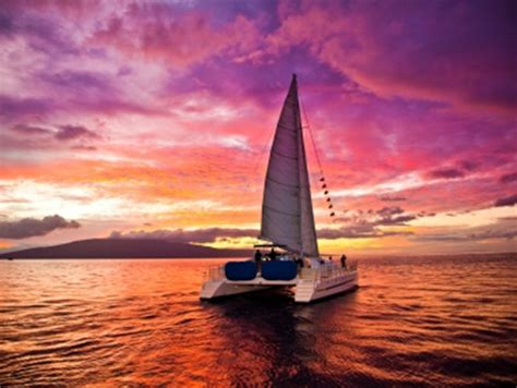 Catamaran Sailing Noosa by Trilogy Romantic Sunset Dinner Sail Cruise From Maalaea
