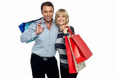 Shopping Husband Wife Macy Cliente Satisfecho Retail