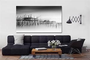 Tableau Deco Noir Et Blanc : tableau noir et blanc decors muraux design izoa ~ Melissatoandfro.com Idées de Décoration