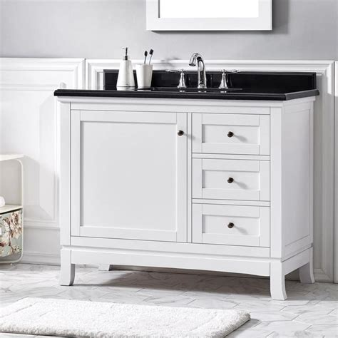 The bathroom is associated with the weekday morning rush, but it doesn't have to be. OVE Decors Sophia 42-in White Single Sink Bathroom Vanity ...