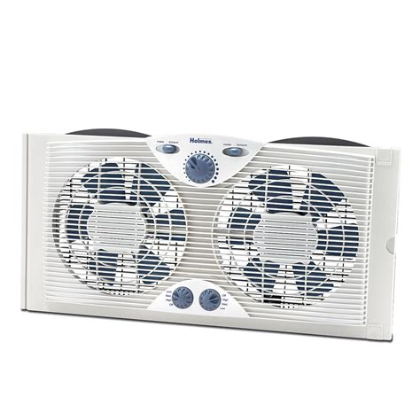 dual heater and fan holmes dual blade window fan with comfort control