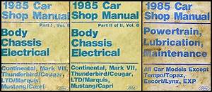 1985 Lincoln Continental  U0026 Mark Vii Electrical Troubleshooting Manual