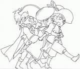 Musketeers Coloring Popular sketch template