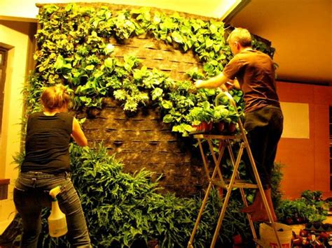 To Make A Vertical Garden Wall by Diy How To Of Blanc Style Green Wall