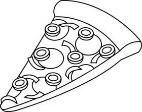 Pizza Slice Clip Art Black and White