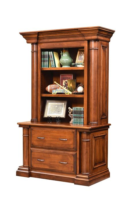 Bookcase With Lateral File Drawer by Amish Lateral File Cabinet With Bookcase Top