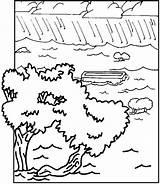 Flood Coloring God Shem sketch template