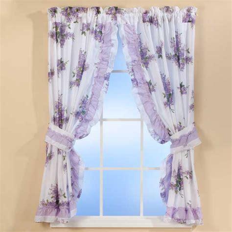 lilac curtains lilac ruffle curtains floral curtains lilac curtains miles kimball