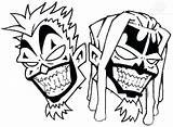 Tattoo Icp Juggalo Outline Clown Designs Insane Posse Hatchet Drawings Drawing Pages Coloring Head Latest Hatchetman Sketch Draw Clipart Clipartmag sketch template