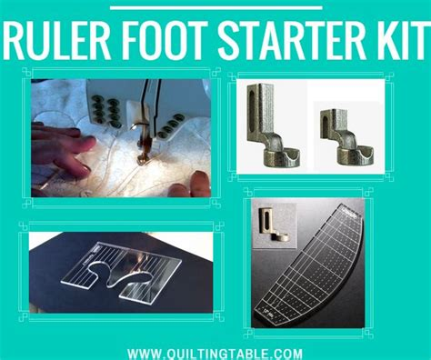 ruler foot and template set the westalee designs ruler foot starter set includes ruler foot 12 quot arc template 3 quot feather