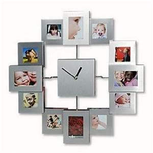Cadre Photo Pele Mele : horloge cadre photo mural p le mele pendule et horloge ~ Nature-et-papiers.com Idées de Décoration