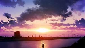 Anime Sunset Wallpaper
