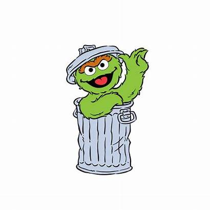 Oscar Sesame Street Clipart Grouch Characters Character