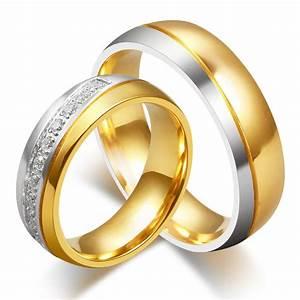 2016 new cz diamond jewelry wedding rings for men and for Wedding rings for male and female